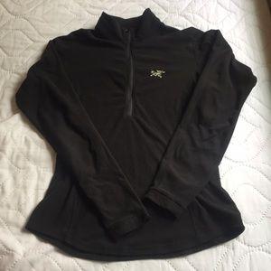 Arc'teryx Tops - Women's, Arc'Teryx, Black waffle half zip. Size S.